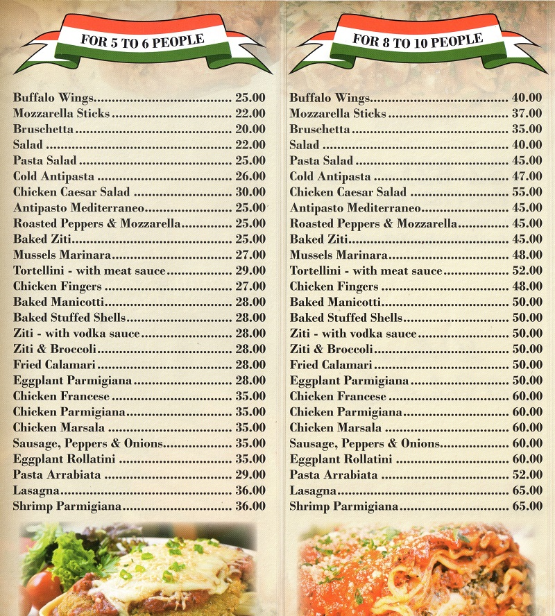 Catering menu 1 catering menu 2 party menu 1 party menu 2